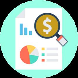 Análise resumida de pedidos: visualize dados sintéticos de pedidos e notas de receita ou despesa